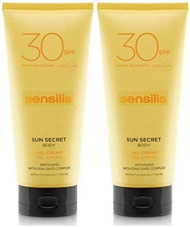 Sensilis Sun Secret - Gel Crema Protector Solar Corporal SPF50 - Pack de 2 unidades de 200 ml: Amazon.es: Belleza