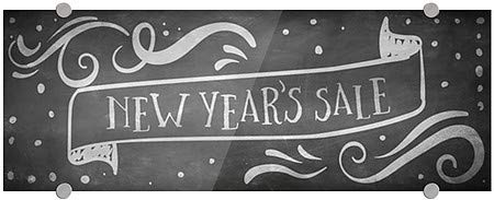 New Years Sale 5-Pack CGSignLab 27x18 Basic Gray Premium Acrylic Sign