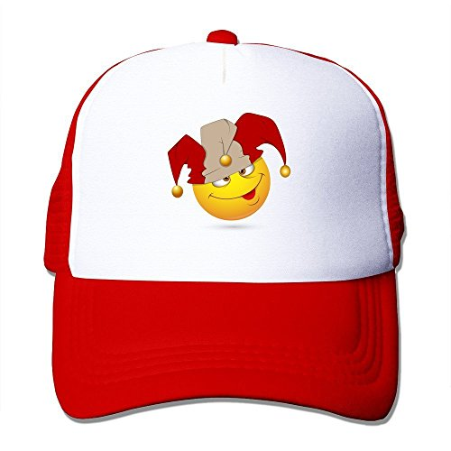 Price comparison product image Printing Adult Unisex Smiley-illustration-jester-face 100% Nylon Mesh Caps One Size Fits Most Adjustable Mesh Hat