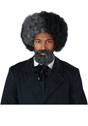 California Costumes Men's Frederick Douglass Wig and Goatee-Adult,