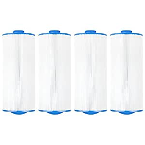 "Clear Choice CCP303 Pool Spa Replacement Cartridge Filter for Jacuzzi Premium J-300 and J400 Filter Media, 6-3/4"" Dia x 15-1/2"" Long, [4-Pack]"
