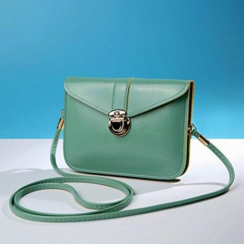 Sera Borsa Spalla Pelle Donna A Mini Micro Piccola Bag Messenger Uomogo® Tracolla Piccolo Verde 2 Da dqcYW7yE