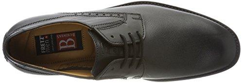 De Fretz Men noir Cordones 51 Negro Hombre Tosco Derby Zapatos Para nnBxZqrw