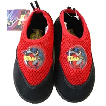 Warner Bros Batman Aqua Socks Water Shoe  Red 7/8