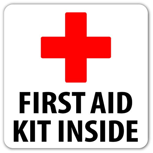 Well-liked Amazon.com: First Aid Kit Inside Emergency Kit Safety Label Sign  VQ44