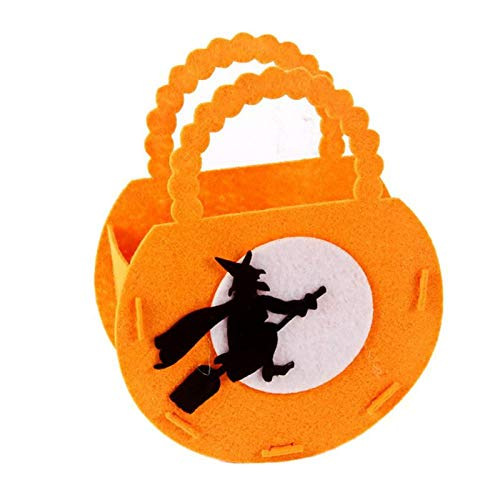 (Gift Bags & Wrapping Supplies - Halloween Pumpkin Candy Tote Bag Ghost Festival Mall Kindergarten Cookies Gift Decorations - Wide Glass Bag Apron Paper Bags Gift Women Gift Bag Bag)