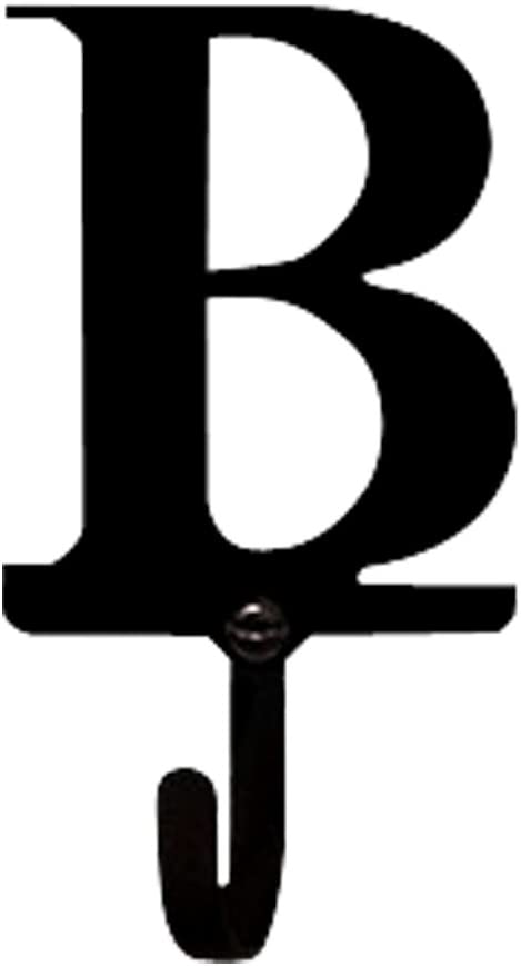 Village Wrought Iron Letter B Wall Hook - Small