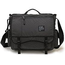 Nicgid Large Messenger Bag, 17.3-Inch Laptop Messenger Bag Laptop Shoulder Bag Business Briefcase Office Work Bag Tote Bag Book Bag For Computer Tablet Travel School College Men Women