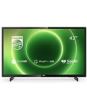 Philips 43PFS6805/12 43-inch televisie (Full HD LED TV, Pixel Plus HD, HDR 10, Saphi Smart TV, full-range-luidspreker, 3 x HDMI, 2 x USB, ideaal voor gaming, glanzend zwart [modeljaar 2020]
