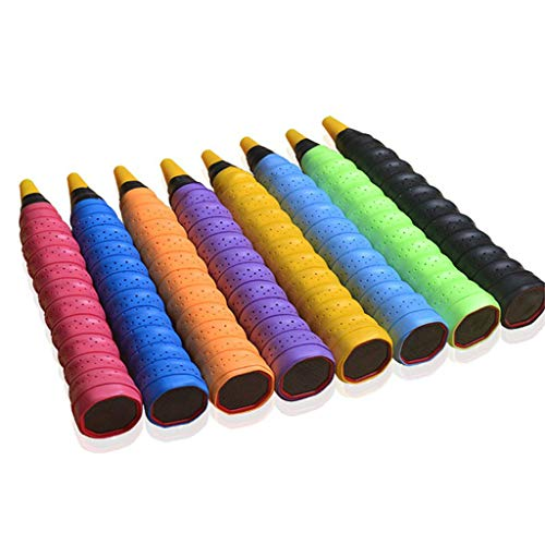 TwJim Tennis Handle Absorbent Pad Badminton Racket Soft Anti-Slip Overgrip Breathable Holes Grip Tape Sports Accessory by TwJim (Image #1)