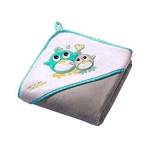 Baby Kind Kapuzenbadetuch 100x100 cm GROSS und SUPERWEICH, Badetuch, Strandtuch, duschtuch, Handtuch (grau)