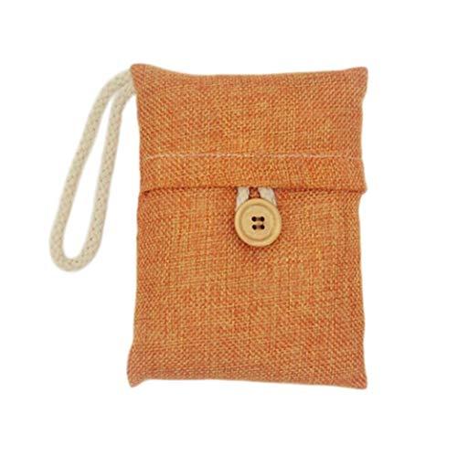 (Hot Sale!UMFun Bag Car Bamboo Charcoal Activated Carbon Air Freshener Odor Deodorant Car Sunshade (Orange))