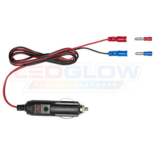 LEDGlow 12 Volt Cigarette Lighter Power Adapter - Quick Connect Crimp Connectors - Easy To Plug In - Lighter Adapter Kit