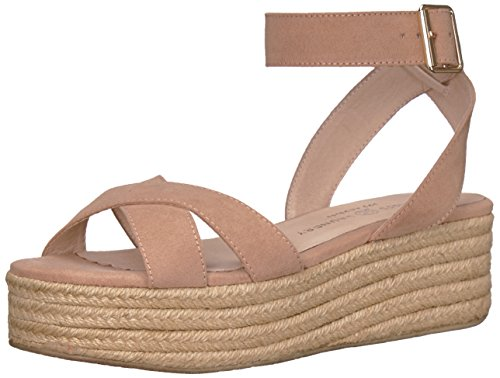 Chinese Laundry Women's Zala Espadrille Wedge Sandal, Dark Nude Suede, 6.5 M - 835 Us