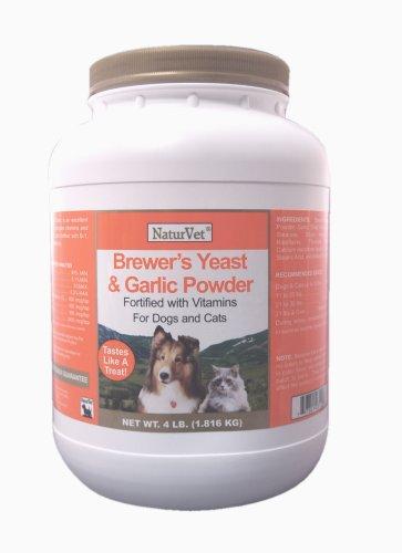 NaturVet Brewer's Yeast and Garlic Powder, 4 Pound, My Pet Supplies