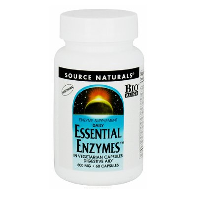 Capsules 60 Sprinkle (Source Naturals - Daily Essential Enzymes 500 mg - 60 Vegetarian Capsules)