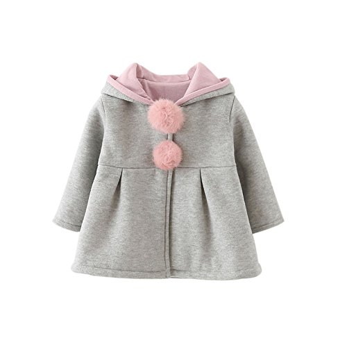 80b4ee435272 Forart Sweet Toddler Girl Rabbit Ear Coat Kids Baby Winter Outwear ...