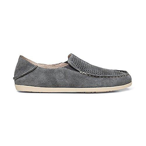 Olukai Nohea Perf - Womens Comfort Shoe Basalt/Tapa - 8.5