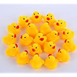 Royare Baby Educational Bathing Toy Rubber Race Squeaky Duck Dolls
