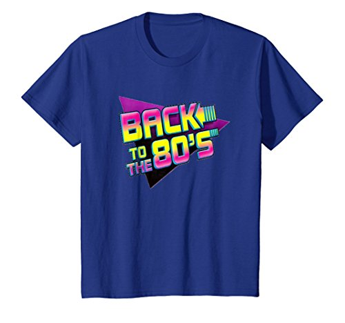Kids Back To The 80s Graphic Retro Novelty T-shirt 8 Royal Blue for $<!--$19.50-->