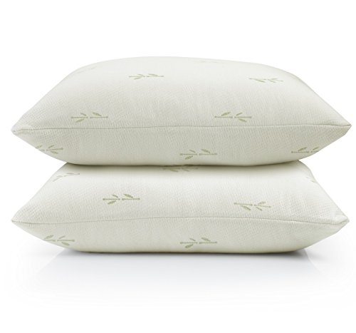 2-Pack Ultra-Luxury Eco-Friendly Bamboo Zippered Pillow Protectors. Naturally Allergy, Dust Mite & Bed Bug Resistant. Anti-Microbial & Sustainable Pillow Covers. (Jumbo / Queen)