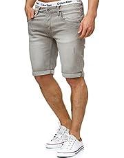 Indicode Heren Caden jeansshort met 5 zakken, 98% katoen   Kort Denim Stretch Broek Used Look Washed Destroyed Regular Fit Men Pants Vrijetijdsbroek Voor Mannen