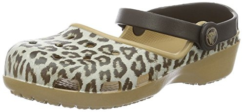 Crocs Karin, Zuecos para Mujer Multicolore (Leopard)