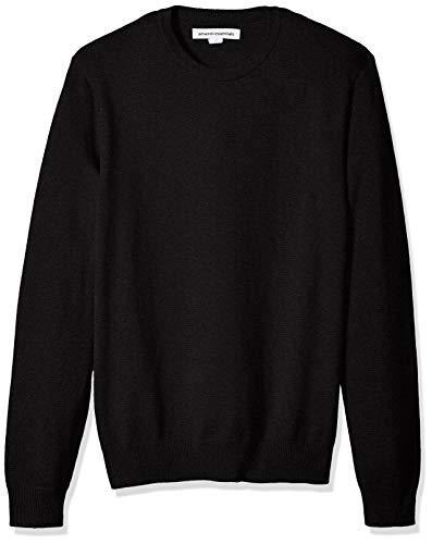 Amazon Essentials Men's Crewneck Sweater, Black, ()
