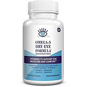 Omega 3 dry eye supplement by eye love for Fish oil dry eyes