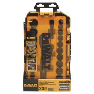 DEWALT Impact Socket Set, 23-Piece, 3/8