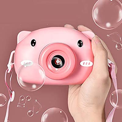 Rela Bota Bubble Machine - Automatic Bubble Maker with Bubble Solution, Bubble Blower Toy Gifts for Toddlers and Kids Activities, Bath, Indoor, Outdoor, Party, Wedding Pig: Sports & Outdoors