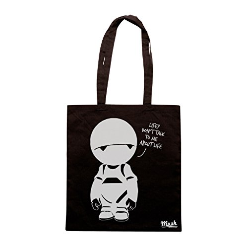 Borsa GUIDA GALATTICA PER AUTOSTOPPISTI MARVIN PRANOID ANDROID - Nera - FILM by Mush Dress Your Style
