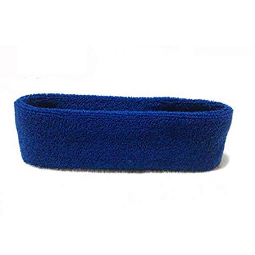 Flurries Unisex Cotton Sports Headband Cotton Sweat Sweatband Headband Yoga Gym Stretch Head Band for Sport (DB)