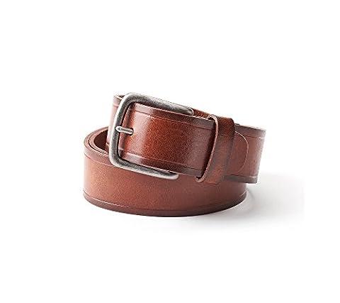 "Levi's Men's 100% Handcrafted Genuine Leather 1.5"" Bridle Belt - Mens Bridle"