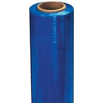 "Aviditi SF188CBLUE Blue Cast Hand Stretch Film Roll, 1500' Length x 18"" Width x 80 Gauge Thick, Blue (Case of 4)"