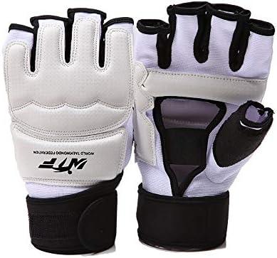 エクササイズ用 手袋グラップリングトレーニングスパーリングミットパーフェクトのためにケージファイティング格闘技パンチングバッグ 通気性 (Color : White, Size : XL)
