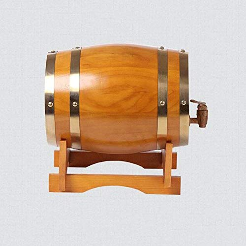 LHome American Oak Aging Barrel Age Your Own Tequila, Whiskey, Rum, Bourbon, Wine 1.32 Gallons Hotel Family Wine Barrel 3L/5L/10L/20L (Color : Style E, Size : 10L) by LHome (Image #2)
