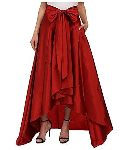 Adrianna Papell Women's High-Low Ball Skirt Red Skirt 8