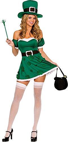 GTH Women's Spank Me I'M Irish Sexy Leprechaun St. Patrick'S Day Costume, S (2-6) (Sexy Disney Villains)