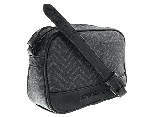 Versace EE1YOBB55 EMAQ Black/Grey Mens Messenger - Bag Versace Men