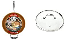 Gotham Steel 12.5 inch Non-Stick Frying Pan with Lid