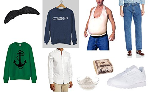 [Pablo Escobar Halloween Costume Set- NARCOS PABLO ESCOBAR COSTUME EL PATRON DRESS CLOTHES] (Pablo Escobar Narcos Costume)