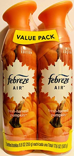 Febreze Air - Limited Edition - Fresh-Harvest Pumpkin - Twin Package - Net Wt. 8.8 OZ (250 g) Per Bottle - One (1) Package (2 Count Bottles)