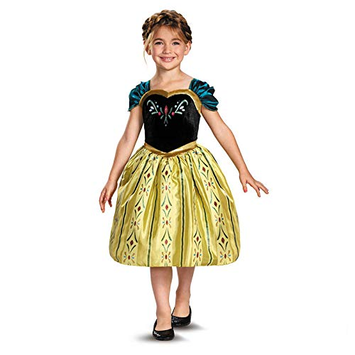 Disney's Frozen Anna Coronation Gown Classic Girls Costume, X-Small/3T-4T ()