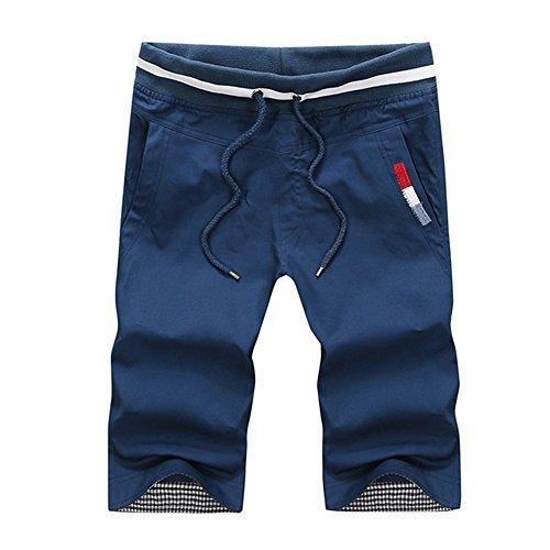 Summer Cotton Classic Style pantaloncini da uomo Teenagers Beach Thin Shorts (Size: 4XL)