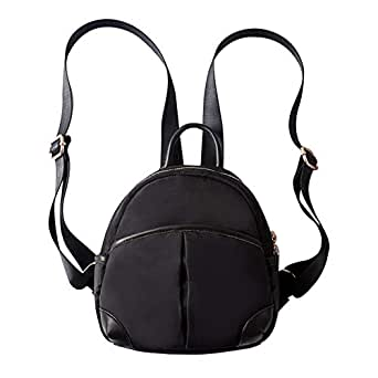 JUMENG Mini Backpack Purse for Women Girl Oxford Daypack Shoulder Bag Waterproof