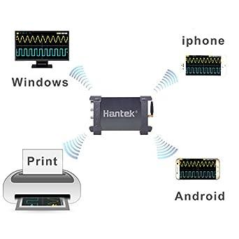 Hantek iDSO1070A Digital Oscilloscope USB iPhone/iPad/Android/Windows Osciloscopio Portatil with WiFi Oscillograph: Amazon.com: Industrial & Scientific