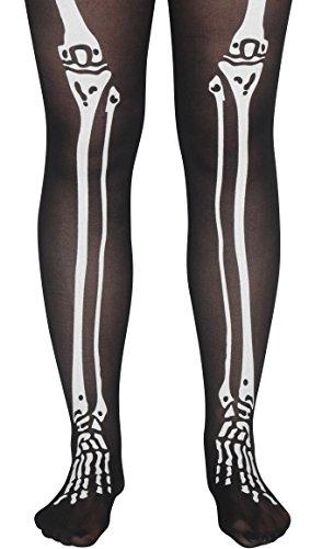 Loftus International Star Power Skeleton Bone Legs Pantyhose Black White One-Size Novelty Item]()