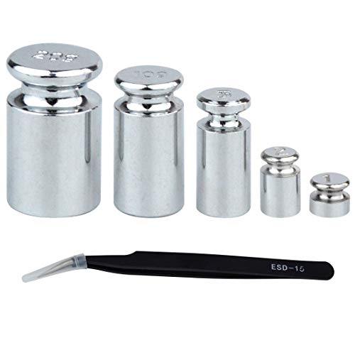 Precision Weight 1 - Yolyoo Calibration Weight 1g 2g 5g 10g 20g,Precision Calibration Gram Scale Weight Set with Tweezers for Balance Scale