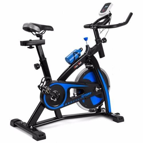 Blue Exercise Stationary bike Gym Bicycle Fitness Cardio ...